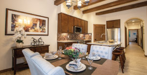 Dining and kitchen of Siena plan
