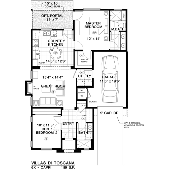 Capri Floor Plan