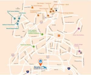 2018 Parade of Homes Map