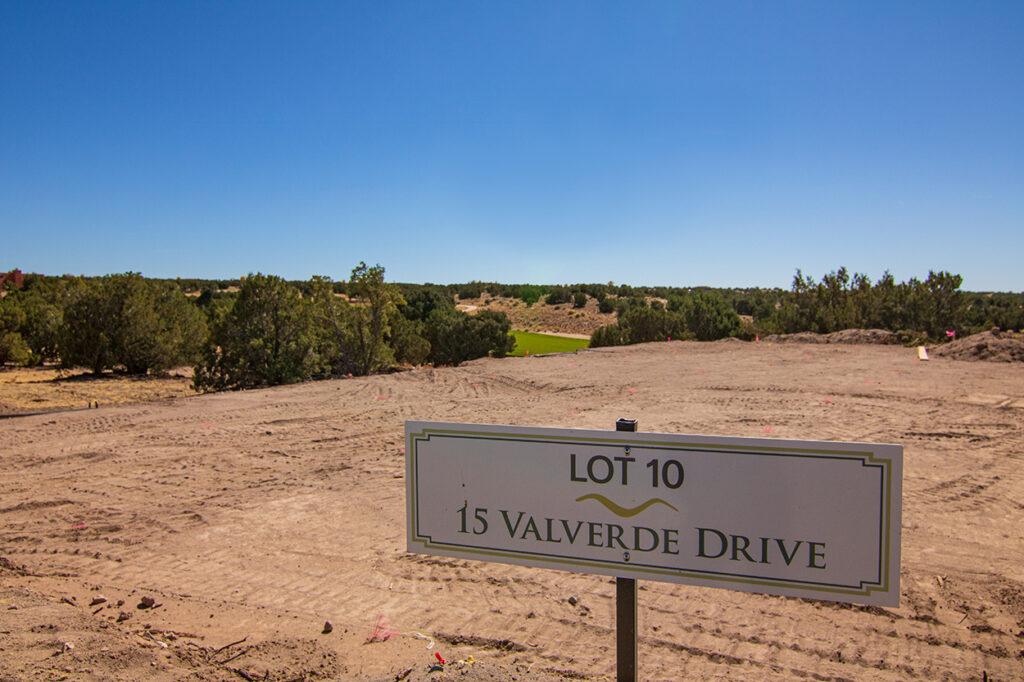 New lot at Valverde home under construction in Las Campanas