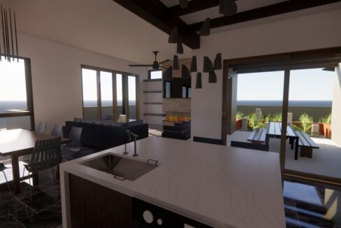 Arete-Homes-Valverde-Sunset-Side From Kitchen
