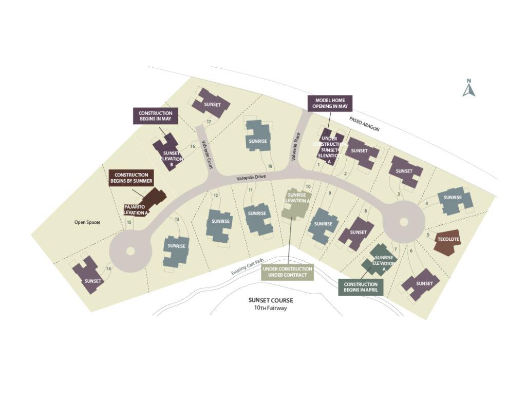 Valverde site map